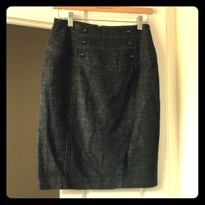 Black gray skirt